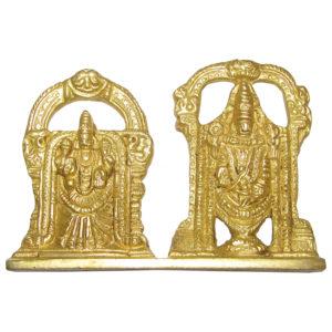 a4886-lord-venkateswara-and-goddess-padmavathi-perumal-thayar-brass-idol