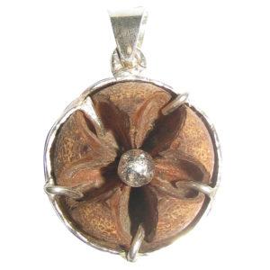a5143-natural-tibetan-evil-eye-protection-flower-silver-pendant