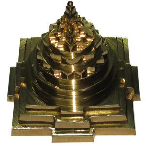 Sri Yantra Maha Meru Brass Idol 4 Inches